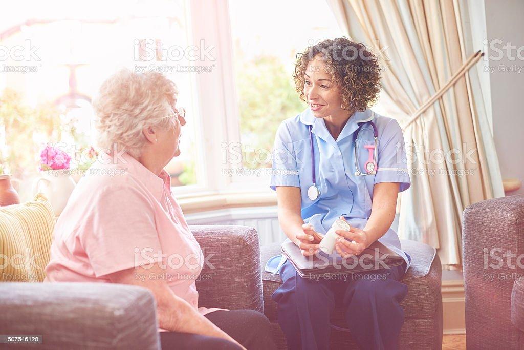 house call medicine advice stock photo