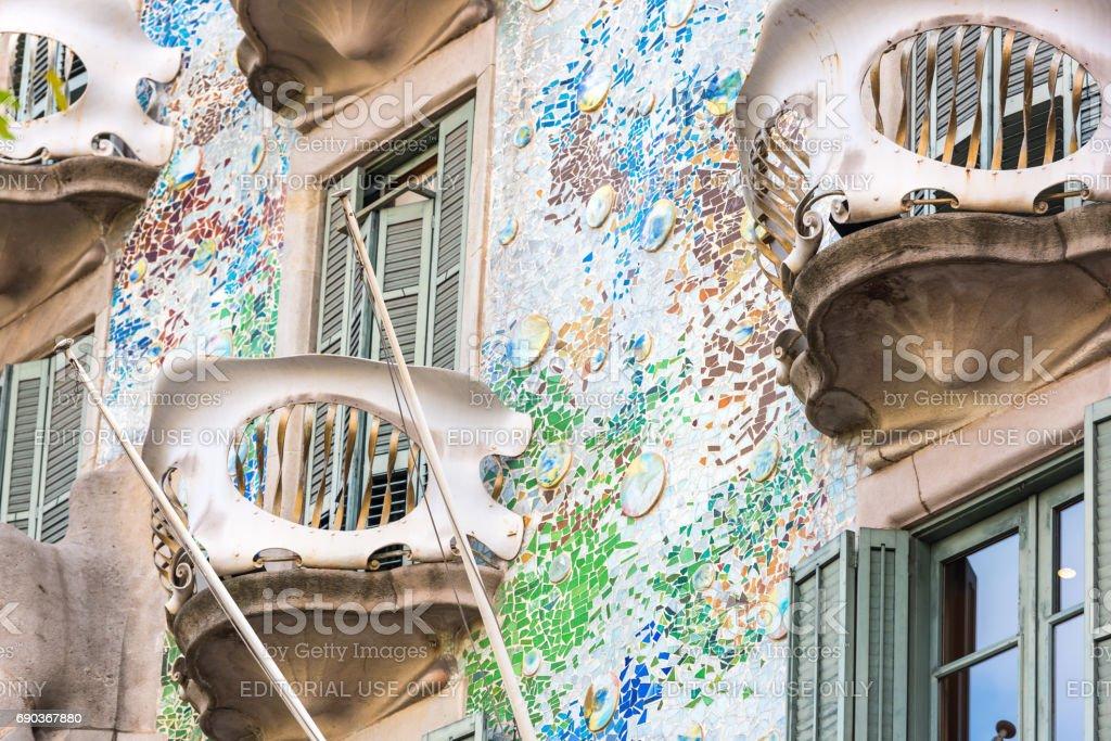 House Casa Battlo in Barcelona, Spain stock photo