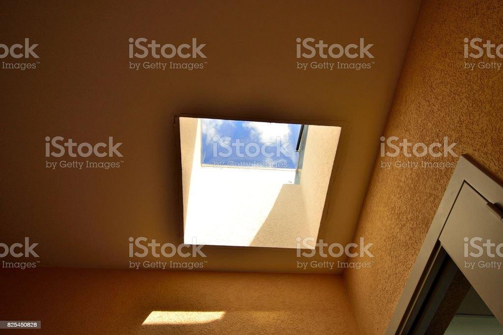 House ceiling with the hatch Стоковые фото Стоковая фотография