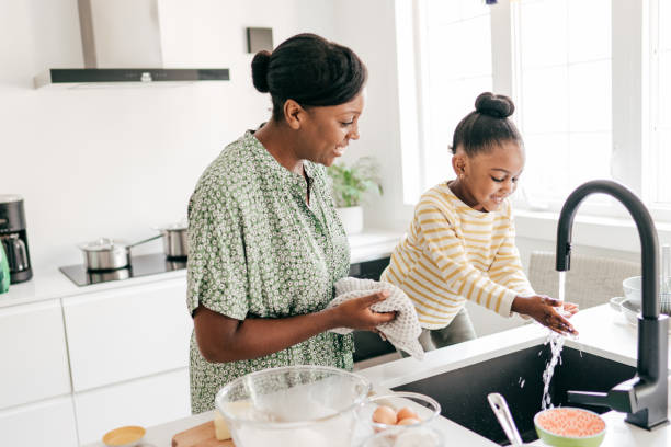House chores for kids stock photo