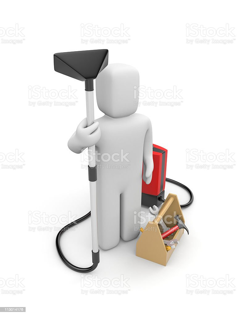 House cleaning and repair service stock photo