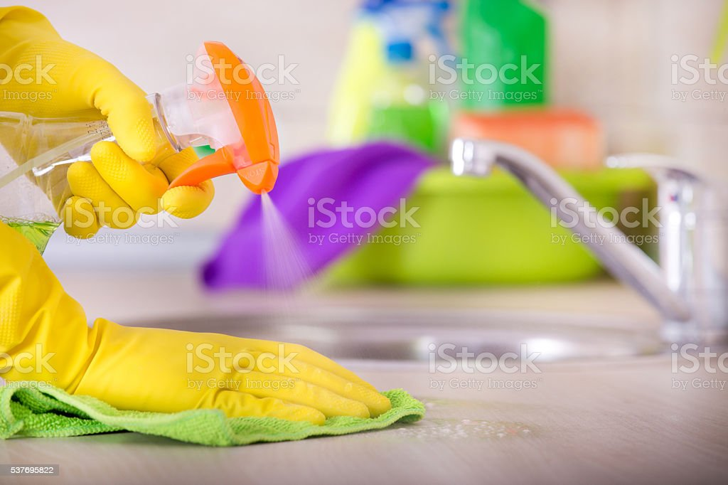 House cleaning concept stock photo