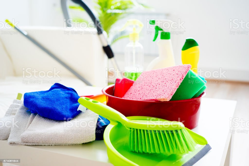 House cleaning products royalty-free stock photo