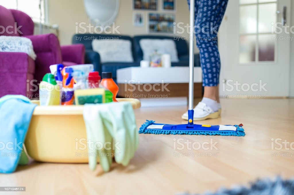 House cleaning service stock photo
