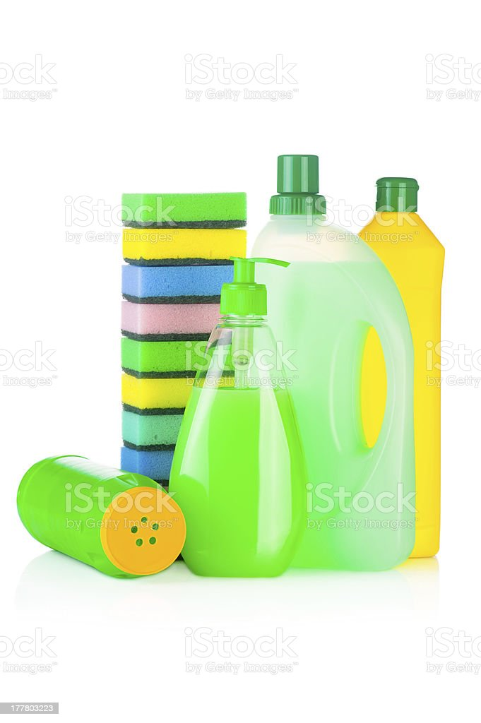 House cleaning supplies royalty-free stock photo