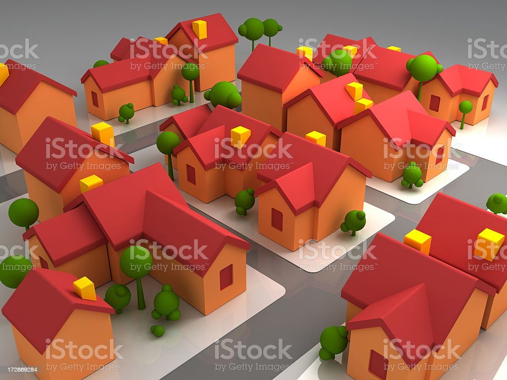 House Complex royalty-free stock photo