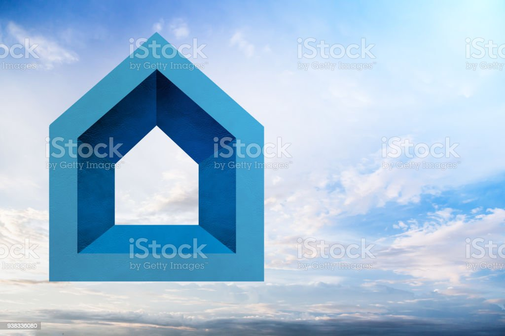House Concept With House Shape Paper Cut Icon With Free