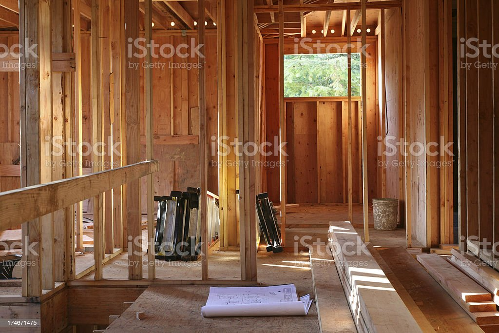 House Construction and Framing royalty-free stock photo