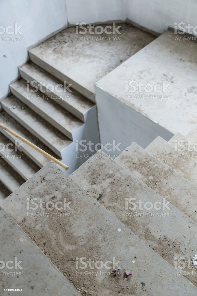 Merveilleux House Construction Concept With Cement Concrete Stair Royalty Free Stock  Photo