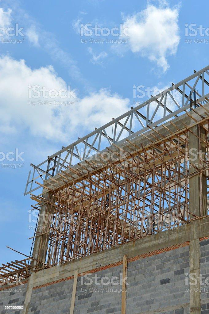 Maison construction en cours de développement photo libre de droits