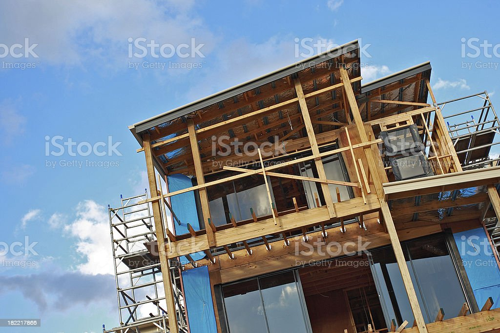 house construction royalty-free stock photo