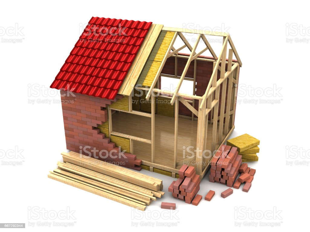 house construction stock photo