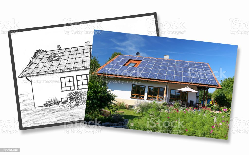 House Construction, Planning And Implementation Royalty Free Stock Photo