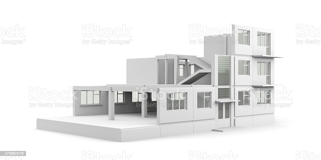 House construction process stock photo