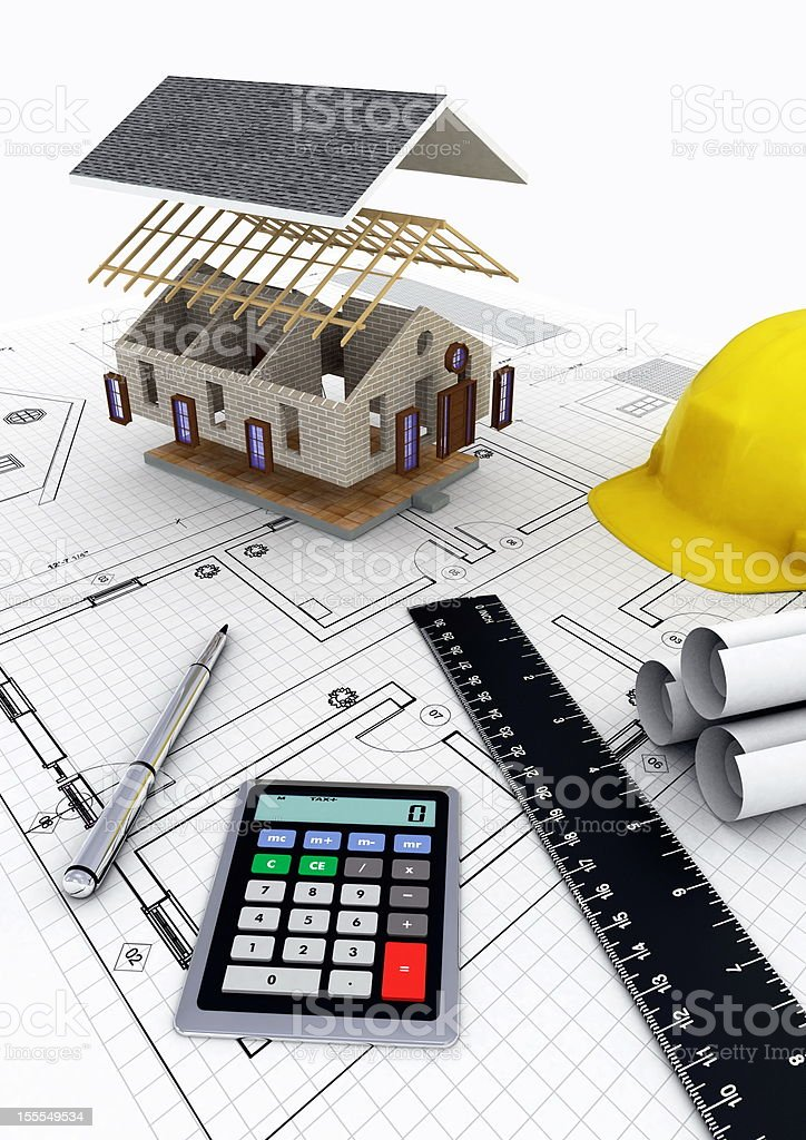 House Construction Project royalty-free stock photo