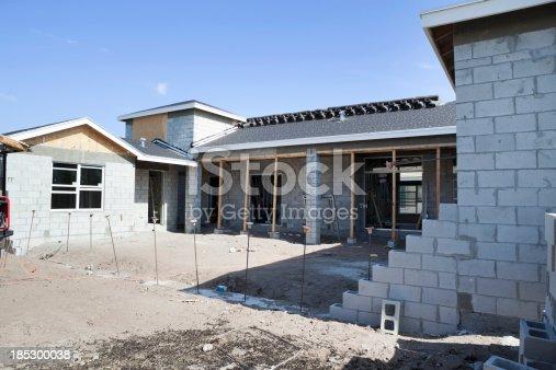 House construction cement blockBuilding and Construction