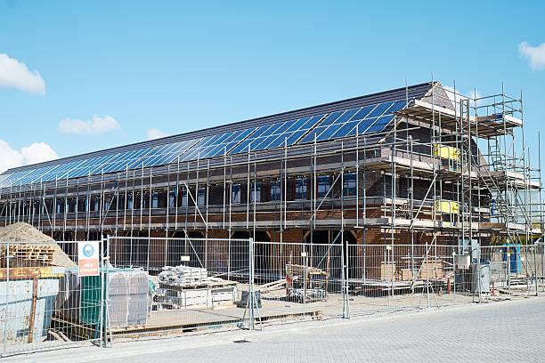 Haus Bau Website der Häuser mit Solarzellen – Foto