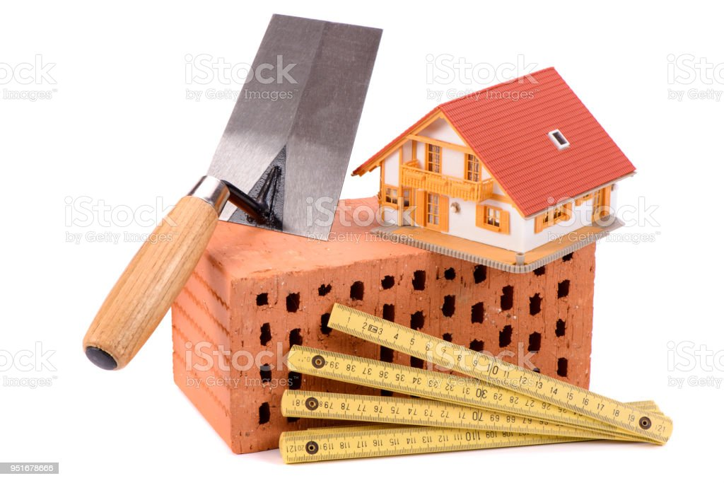 House Construction With Brick Tools Plan And Model House