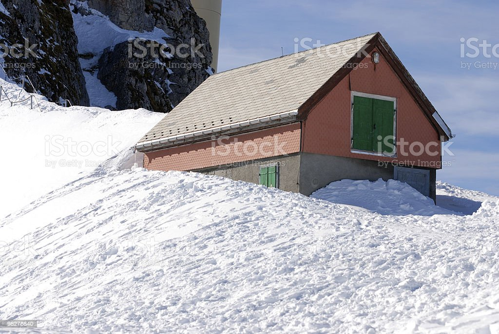 house covered in snow royalty-free stock photo