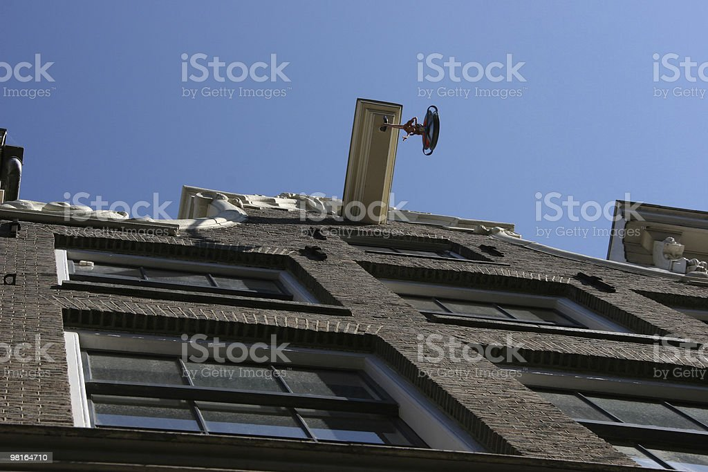 house crane royalty-free stock photo