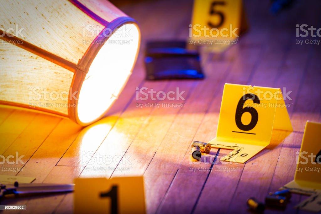House Crime Scene - Royalty-free Black Color Stock Photo