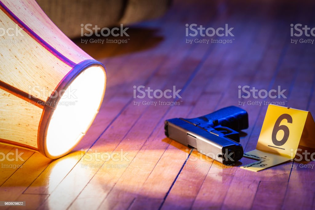 House Crime Scene - Royalty-free Black Color Stock Photo