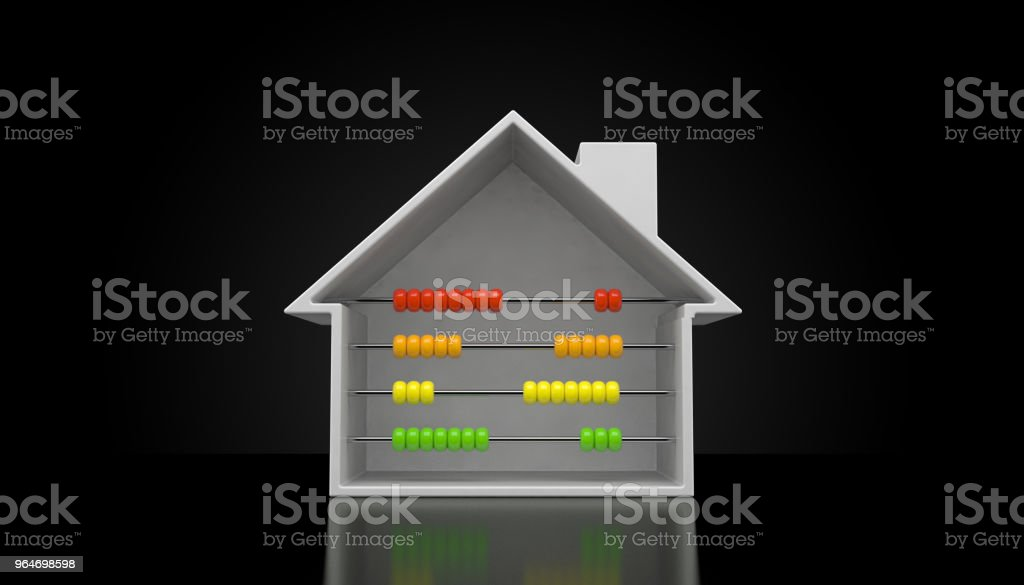 House cross-section with abacus royalty-free stock photo