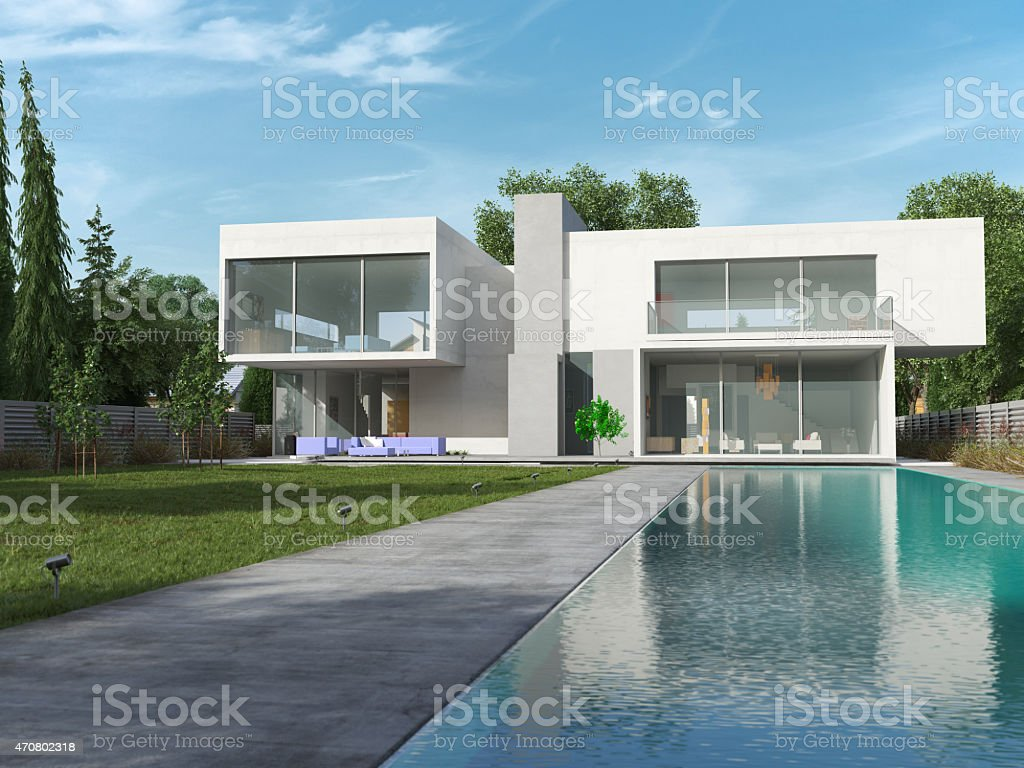 House cube day stock photo
