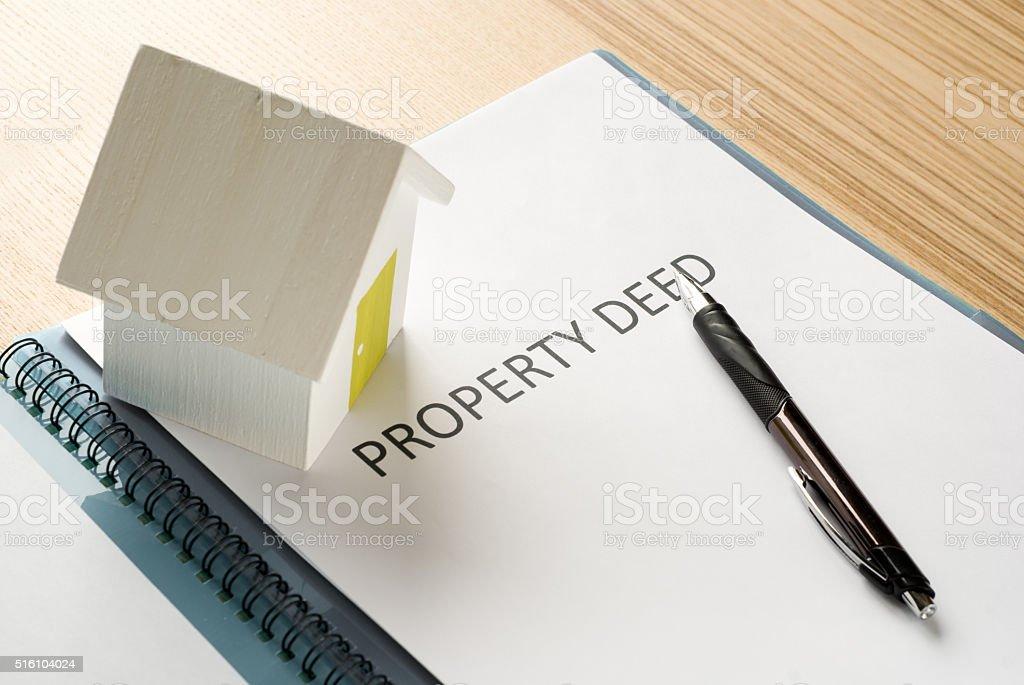 house deed stock photo