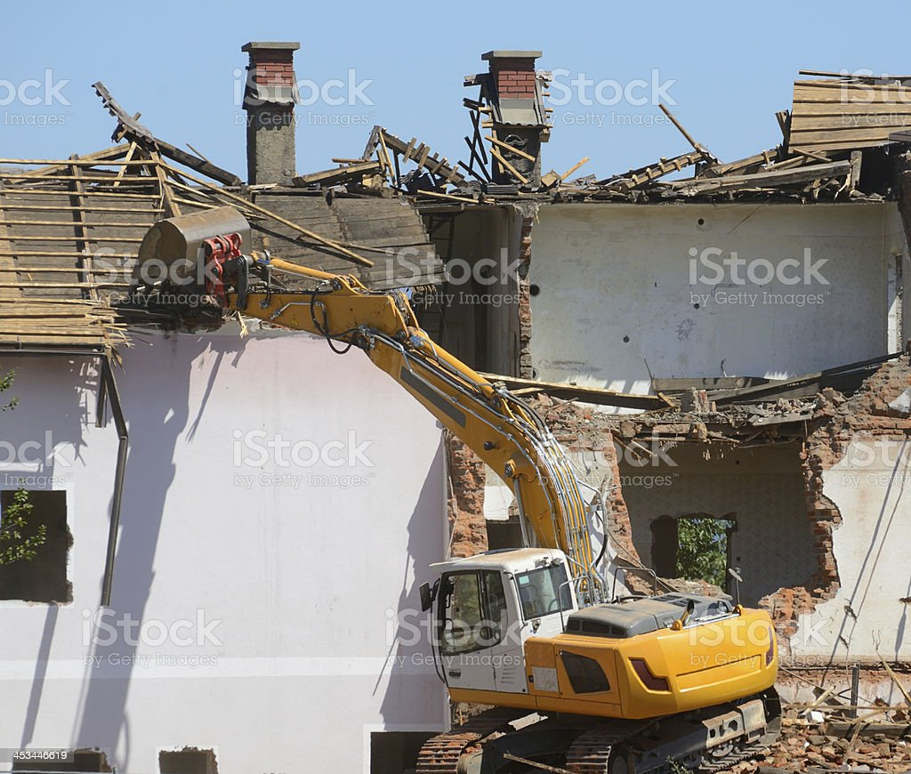 House Demolition stock photo