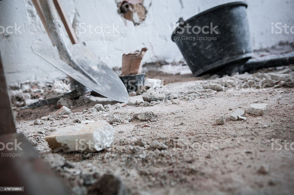 House demolition stock photo