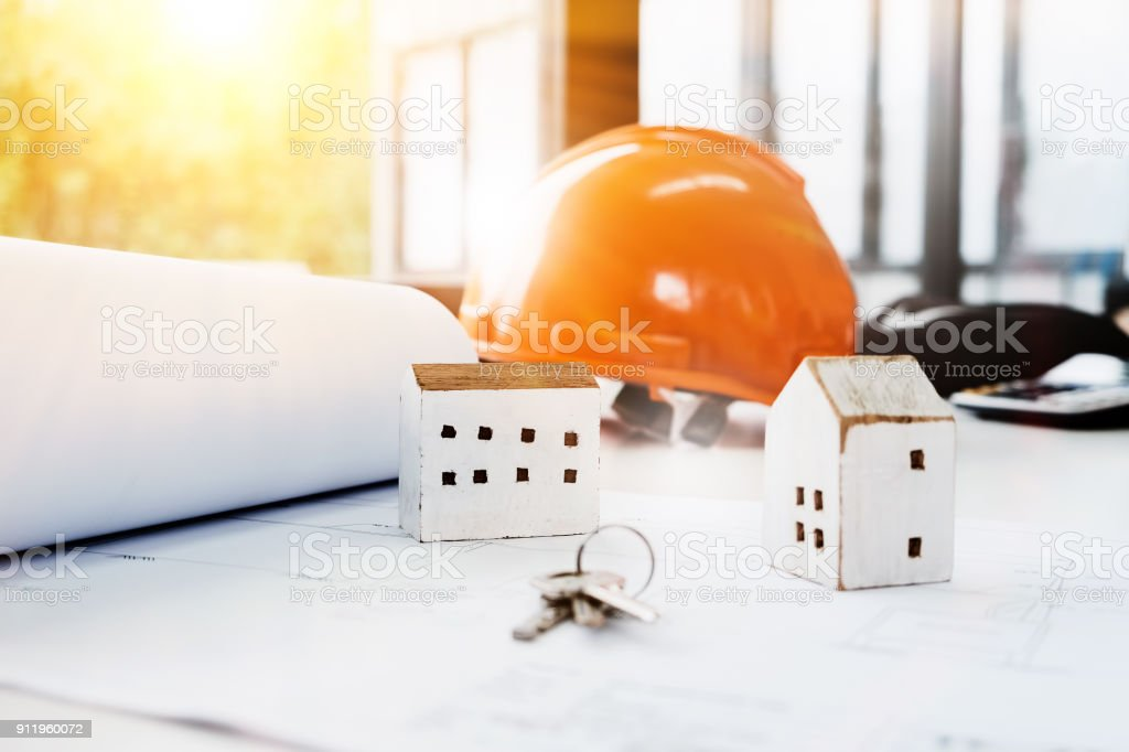 House Design Tools Include House Models Keys And The Helmet