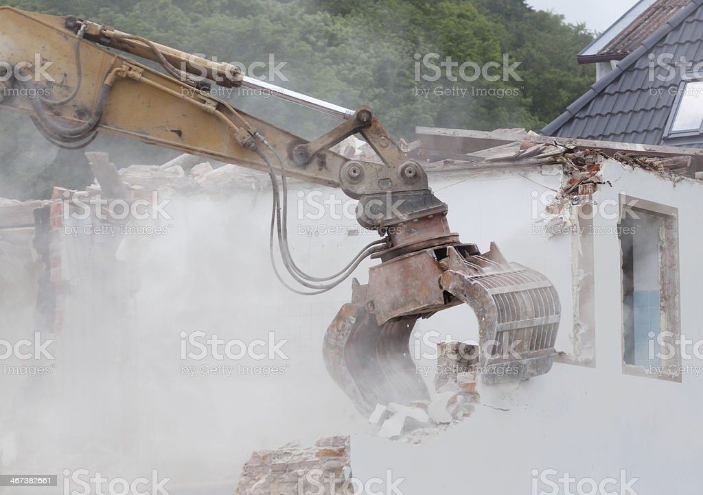 house destruction stock photo