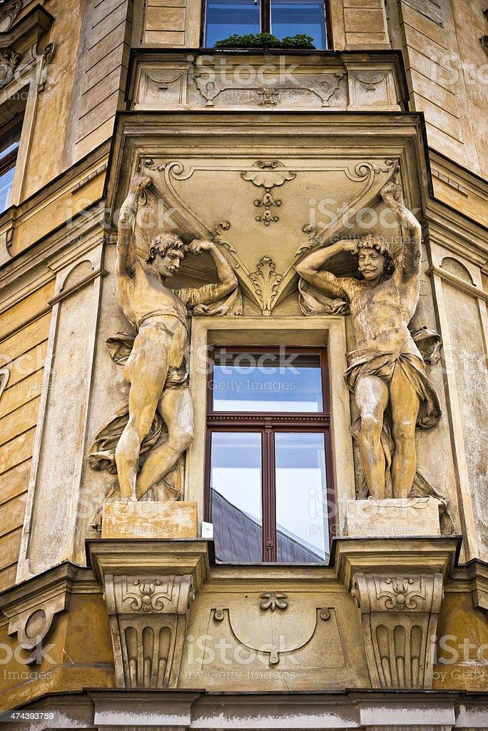 house detail in Prague, Czech Republic stock photo