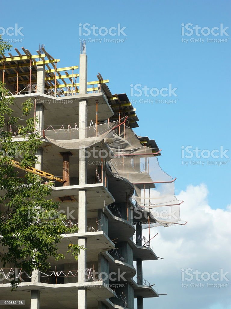 house develop at day stock photo
