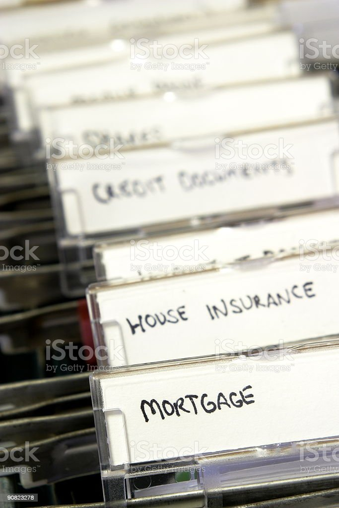 House documents royalty-free stock photo