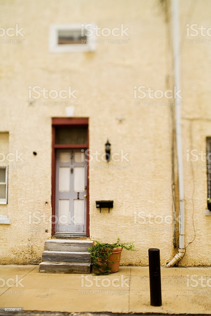 house doorway stock photo
