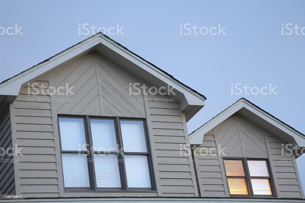 House Dormers In Evening Light stock photo