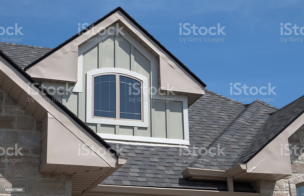 House Dormers royalty-free stock photo