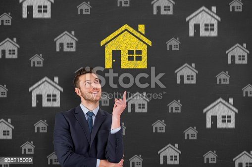istock House Drawing on Chalkboard 935215020