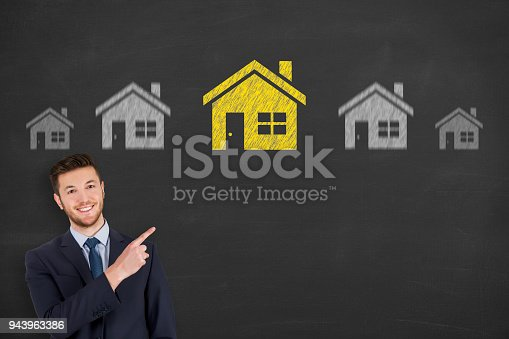 istock House Drawing on Chalkboard 943963386