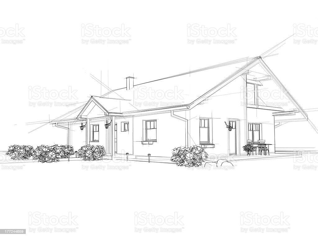 Casa de dibujo - Foto de stock de Abstracto libre de derechos