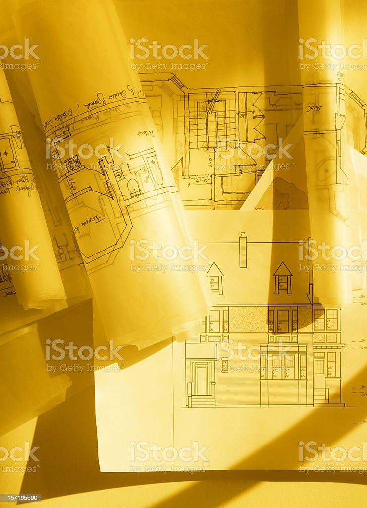 house drawings royalty-free stock photo
