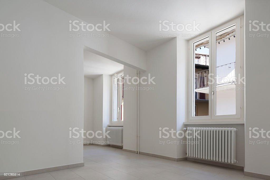 house, empty room, interior stock photo