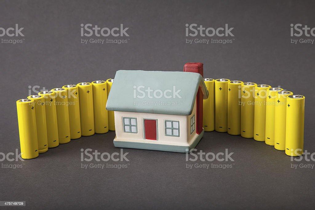 house energy consumption bildbanksfoto
