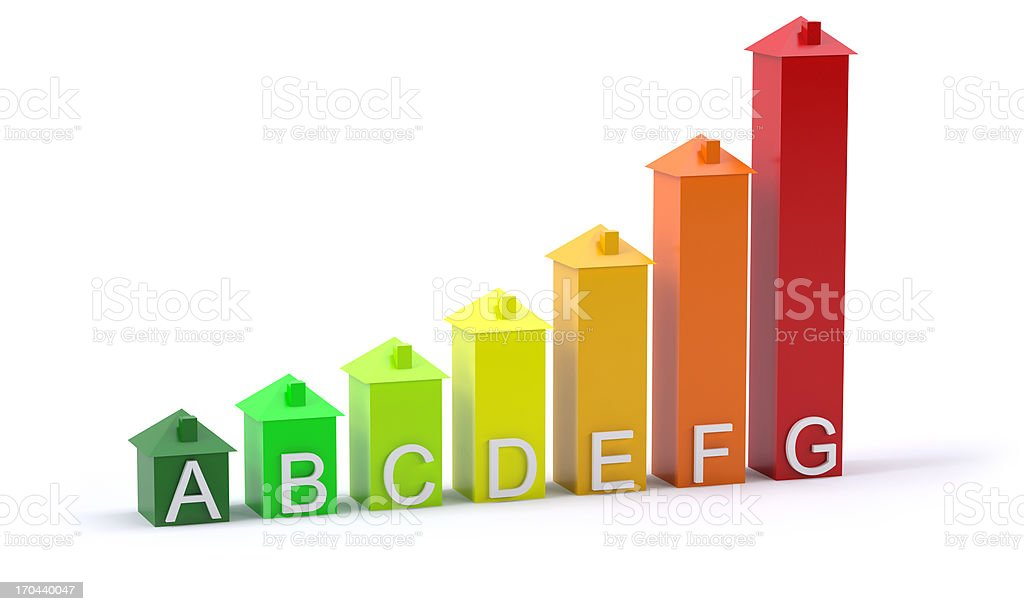 house energy rating stock photo