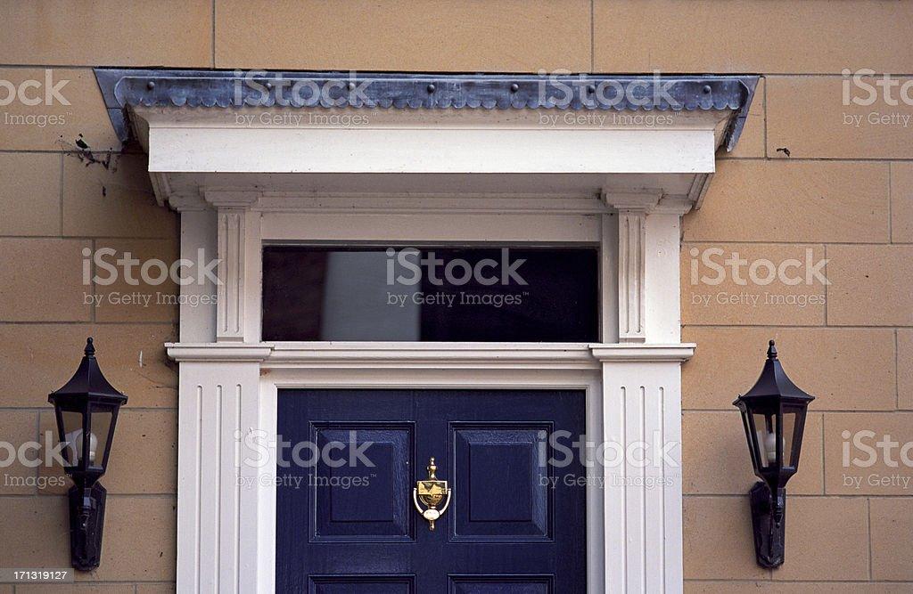 Lentre Style Anglais Maison Porte Dentre lgant Gros Plan