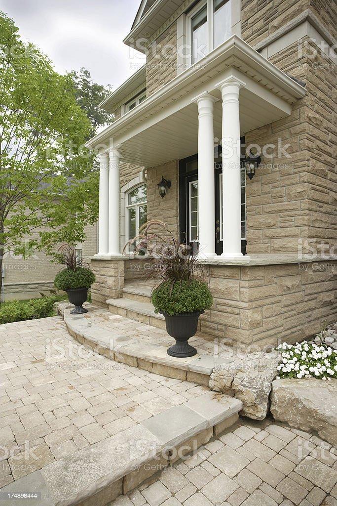 House entrance royalty-free stock photo