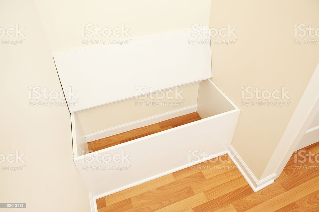 House Entry Storage Bench With Open Seat Lid Stock Photo Download Image Now Istock