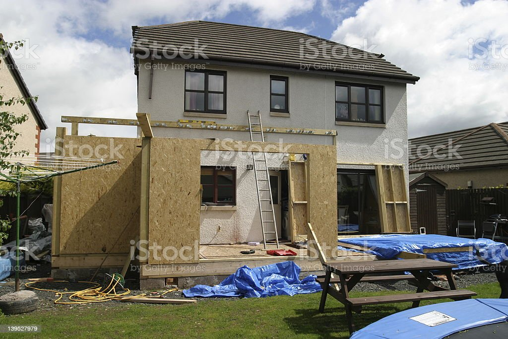House extension 2 royalty-free stock photo